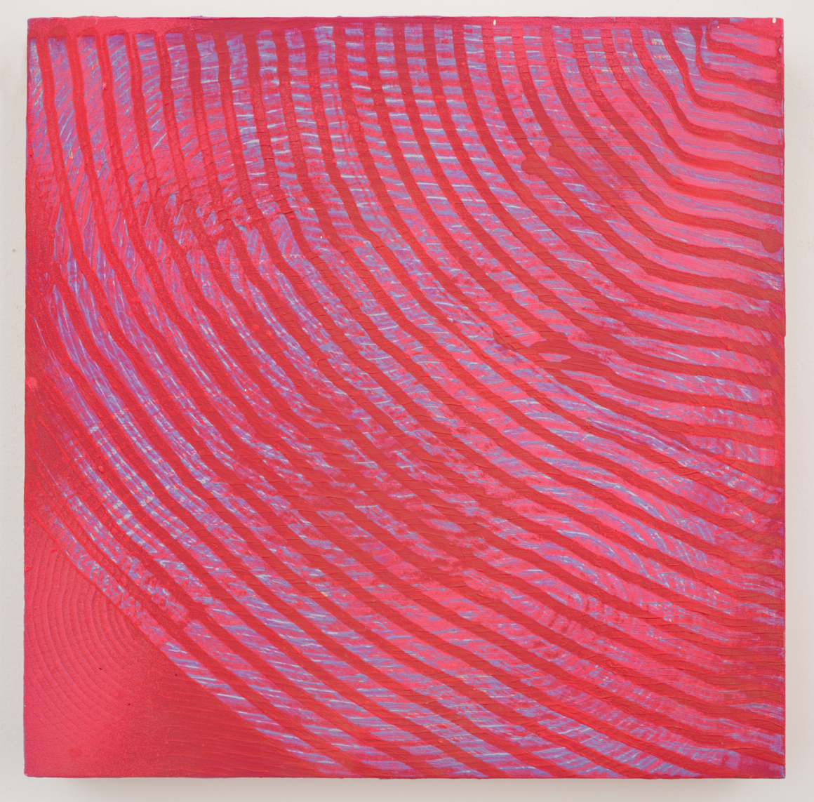 "<p><span class=""name"">Adam Bateman</span><br><em>Pink</em><span class='media'>acrylic and spray paint on panel</span>13 x 13 in  (33 x 33 cm)<br>2014<br><a class='inquire' href='mailto:info@gildargallery.com?subject=Artwork Inquiry ABAT0015&body=I am interested in finding out more about Pink by Adam Bateman'>Inquire</a></p>"