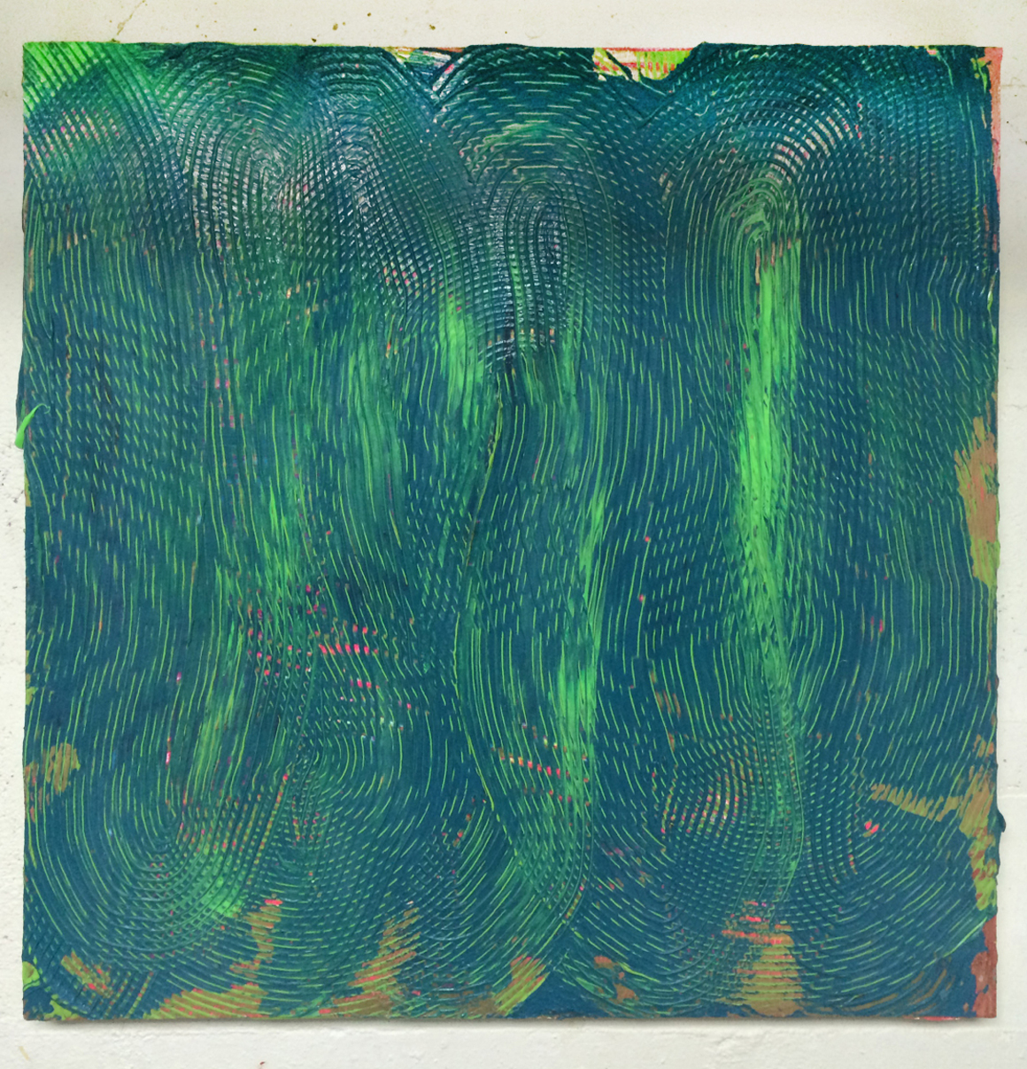 "<p><span class=""name"">Adam Bateman</span><br><em>Blue and Green</em><span class='media'>acrylic and spray paint on panel</span>24 x 24 in  (61 x 61 cm)<br>2014<br><a class='inquire' href='mailto:info@gildargallery.com?subject=Artwork Inquiry ABAT0017&body=I am interested in finding out more about Blue and Green by Adam Bateman'>Inquire</a></p>"