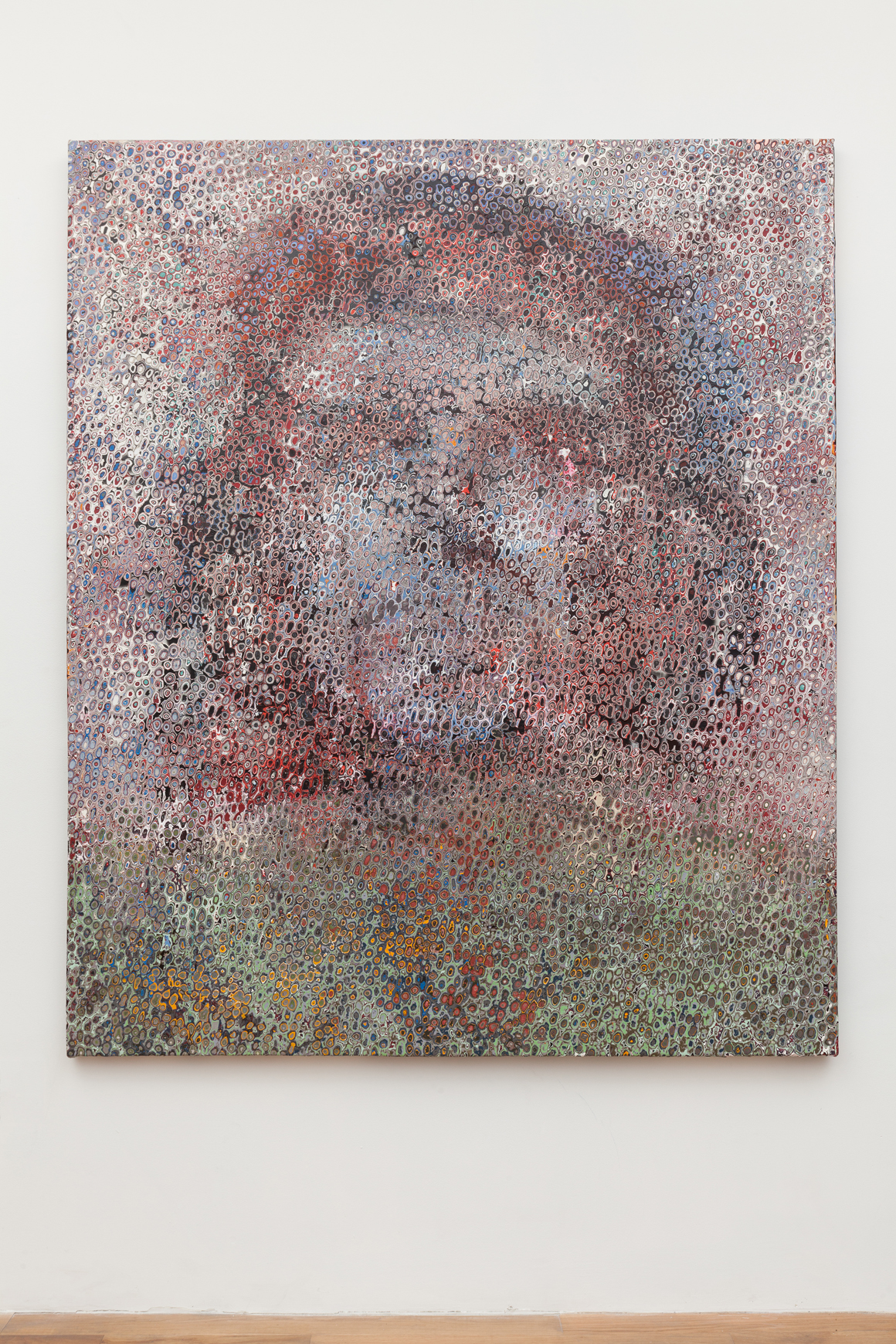 <p><em>Che</em><span class='media'>Latex on canvas</span>approximately 66 x 79in (pre stretched)<br>2018<br></p>