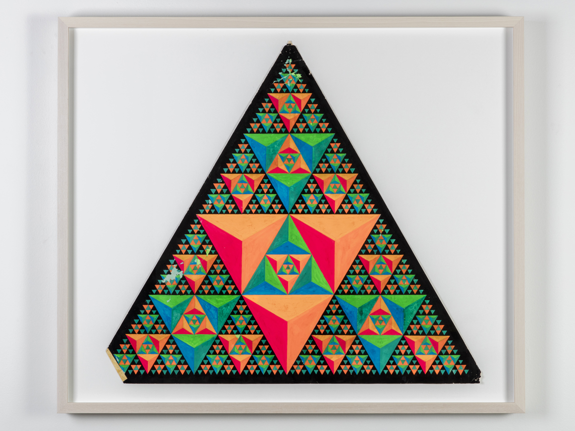 <p><em>Triad</em><span class='media'>Dayglo on paper</span>22 3/4 (h) x 24 1/2in (w)<br>0.196668<br><a class='inquire' href='mailto:info@gildargallery.com?subject=Artwork Inquiry CRIC0033&body=I am interested in finding out more about Triad by Clark Richert'>Inquire</a></p>