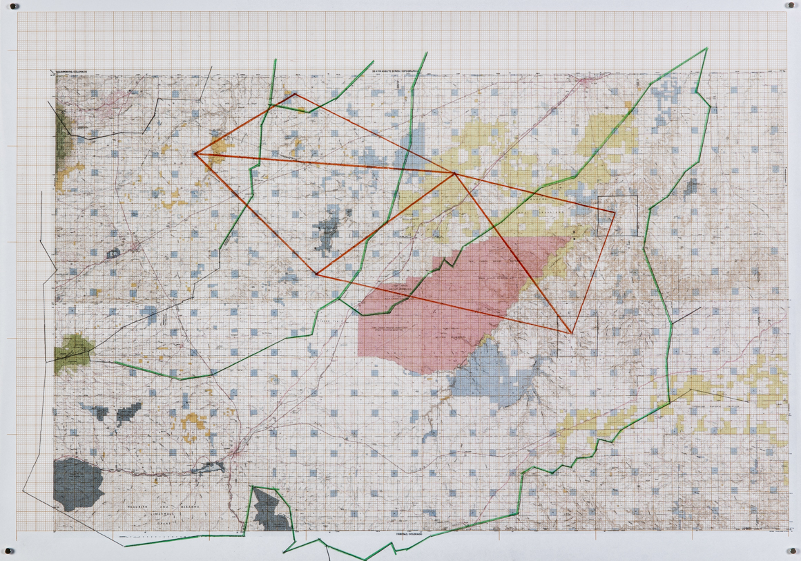 "<p><span class=""name"">Dave Bailey</span><br><em>School Sections X Watersheds (Purgatoire, Timpas, Ashishapa; Huerfano)</em><span class='media'>Inkjet printing and pencil on graph paper</span>11.5 x 16 in  (29.2 x 40.6 cm)<br>2016<br><a class='inquire' href='mailto:info@gildargallery.com?subject=Artwork Inquiry DBAI0003&body=I am interested in finding out more about School Sections X Watersheds (Purgatoire, Timpas, Ashishapa; Huerfano) by Dave Bailey'>Inquire</a></p>"