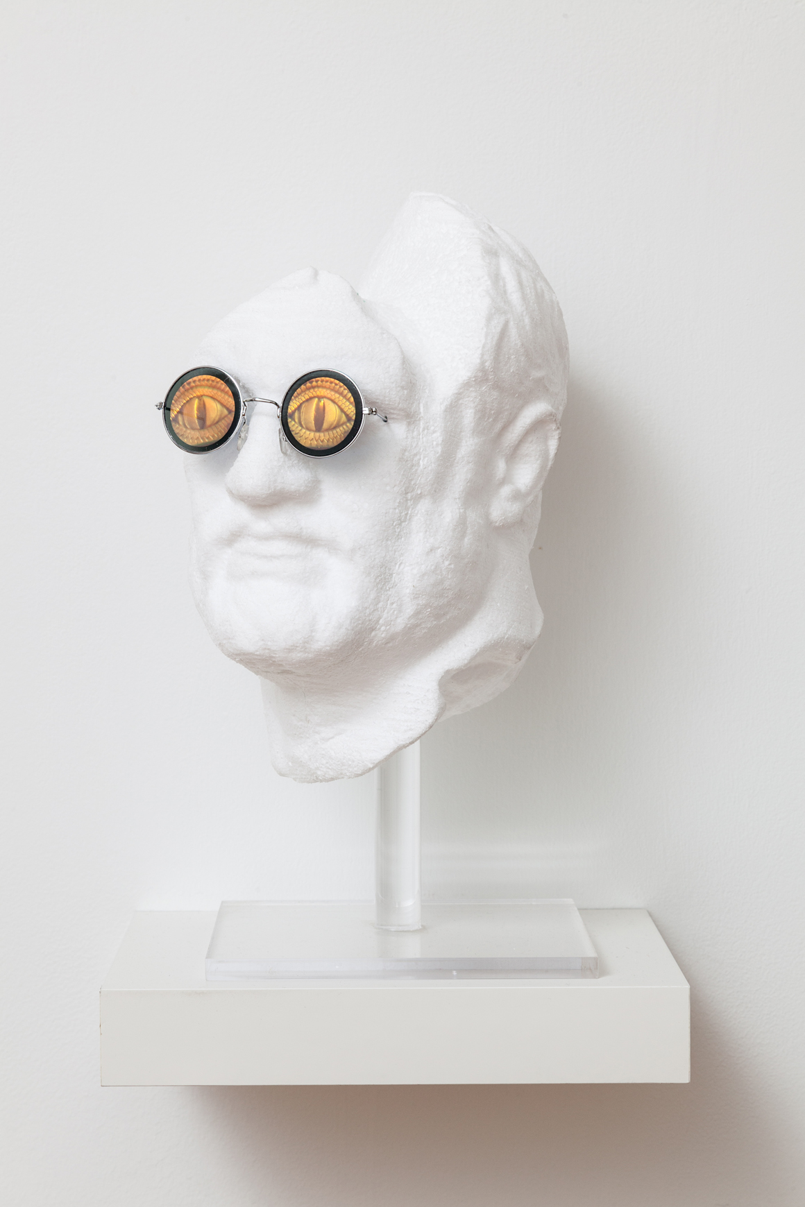 <p><em>Untitled (head)</em><span class='media'>Polystyrene, holographic sunglasses</span>16 x 9 x 9 in (40.6 x 22.9 x 22.9 cm)<br>2017<br><a class='inquire' href='mailto:info@gildargallery.com?subject=Artwork Inquiry DOBE0030&body=I am interested in finding out more about Untitled (head) by Dmitri Obergfell'>Inquire</a></p>