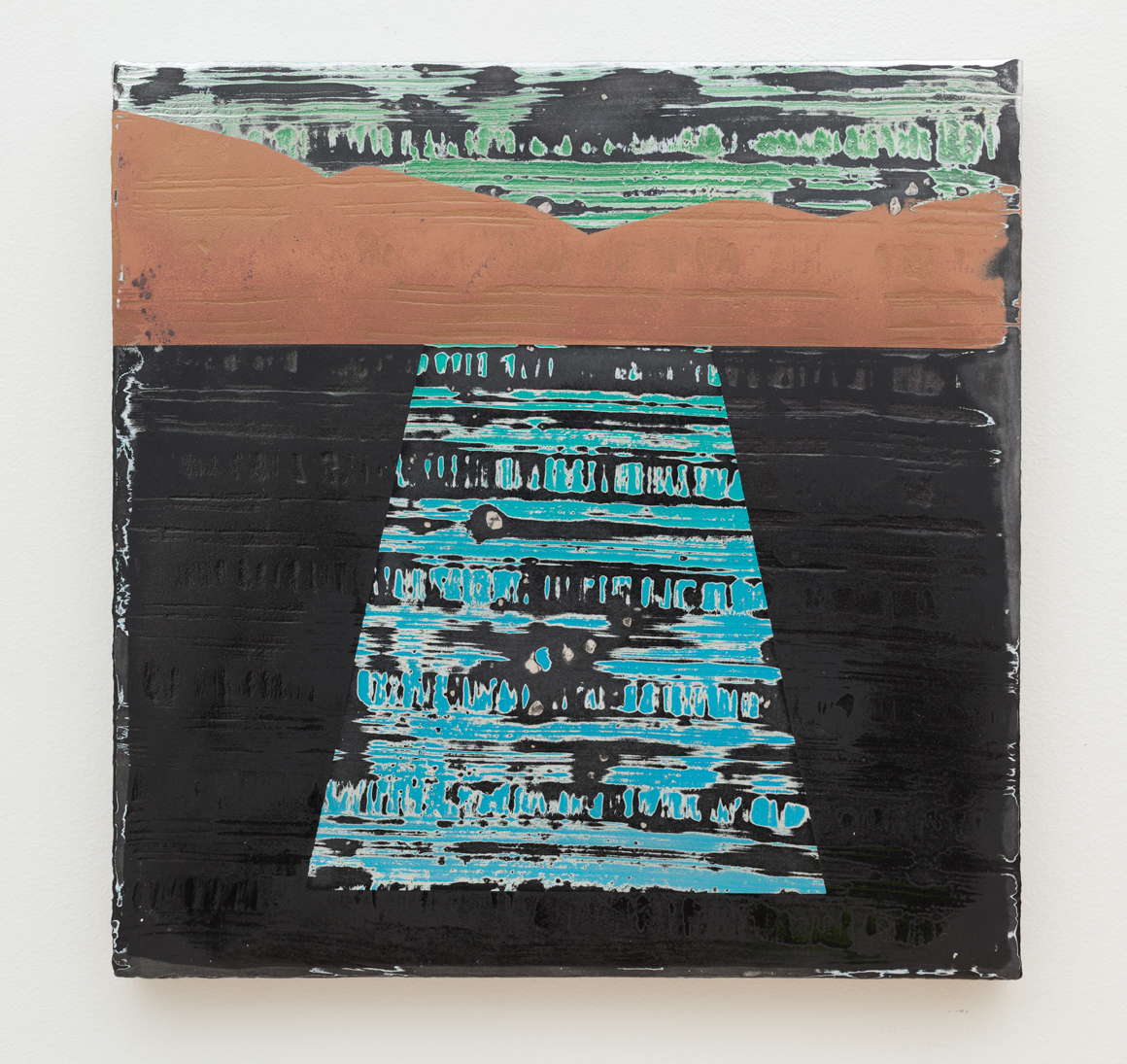 <p><em>Pool Containment (3)</em><span class='media'>Aqua resin, India ink, pigment, enamel, oil, acrylic, chrome on linen</span>16 x 16 in  (40.6 x 40.6 cm)<br>2015<br><a class='inquire' href='mailto:info@gildargallery.com?subject=Artwork Inquiry JCOC0018&body=I am interested in finding out more about Pool Containment (3) by Joey Cocciardi'>Inquire</a></p>