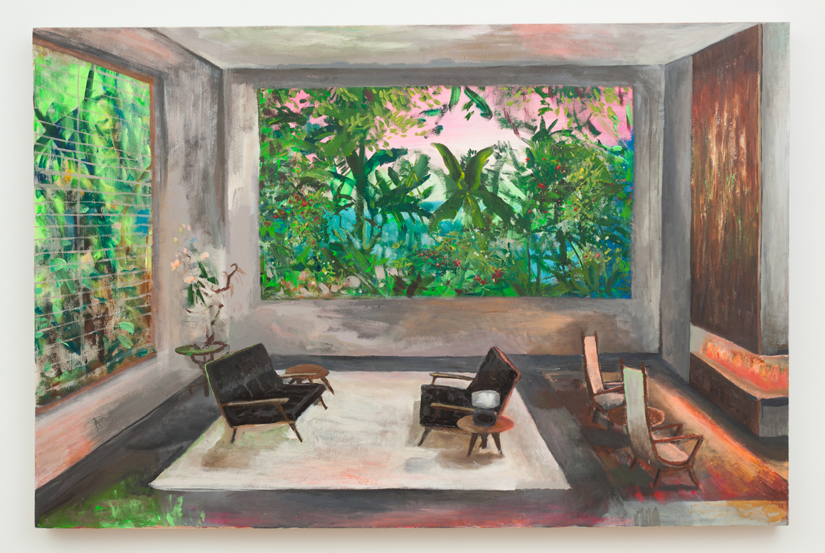 <p><em>A Room with a View</em><span class='media'>Acrylic on canvas</span>48 x 72 in  (121.9 x 182.9 cm)<br>2017<br><a class='inquire' href='mailto:info@gildargallery.com?subject=Artwork Inquiry JDEF0001&body=I am interested in finding out more about A Room with a View by Johnny Defeo'>Inquire</a></p>
