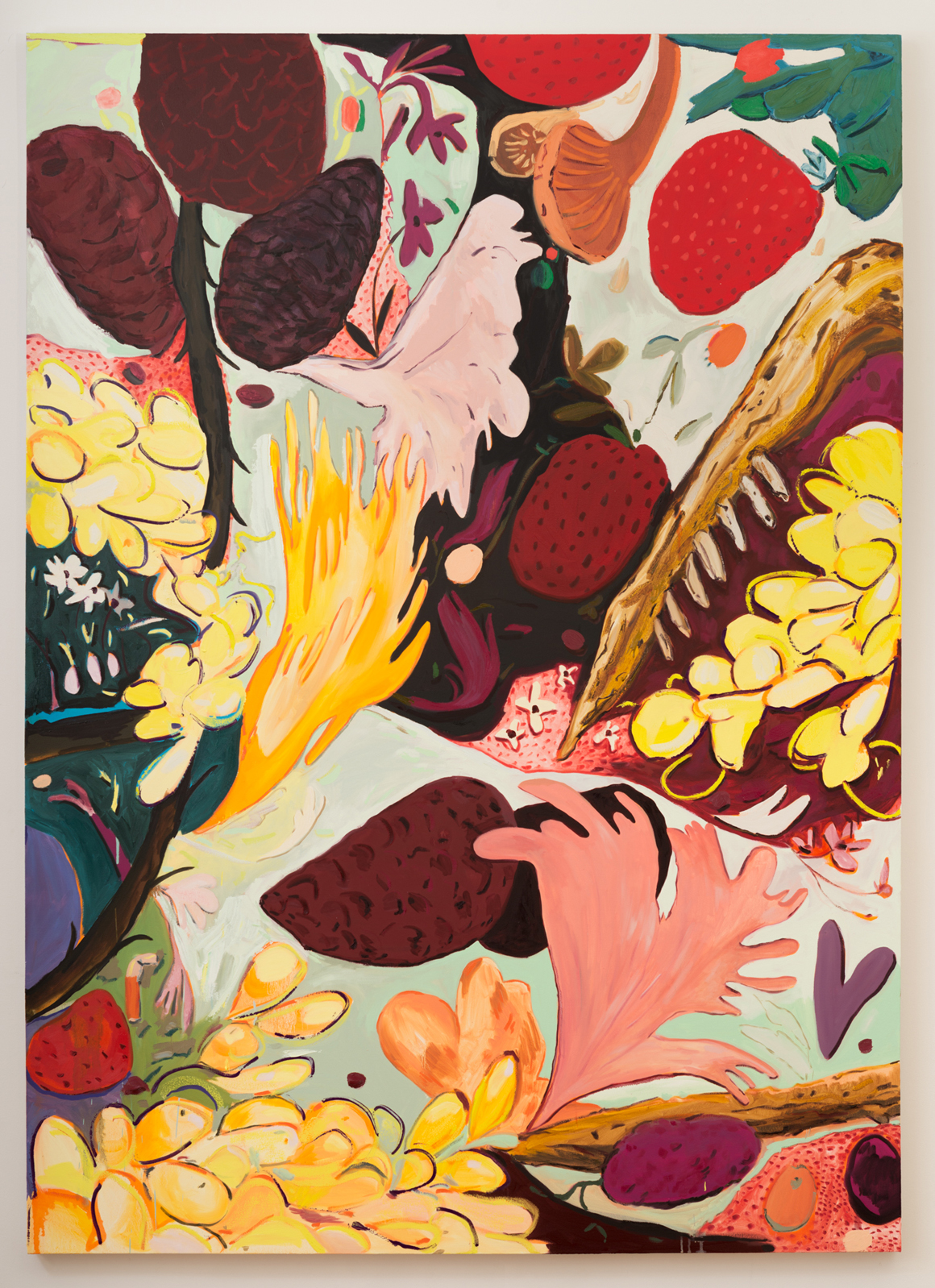 """<p><span class=""""name"""">Jasmine Little</span><br><em>Fruit Still Life</em><span class='media'>Oil on canvas</span>92 x 66 in (233.7 x 167.6 cm)<br>2018<br><a class='inquire' href='mailto:info@gildargallery.com?subject=Artwork Inquiry JLIT0007&body=I am interested in finding out more about Fruit Still Life by Jasmine Little'>Inquire</a></p>"""