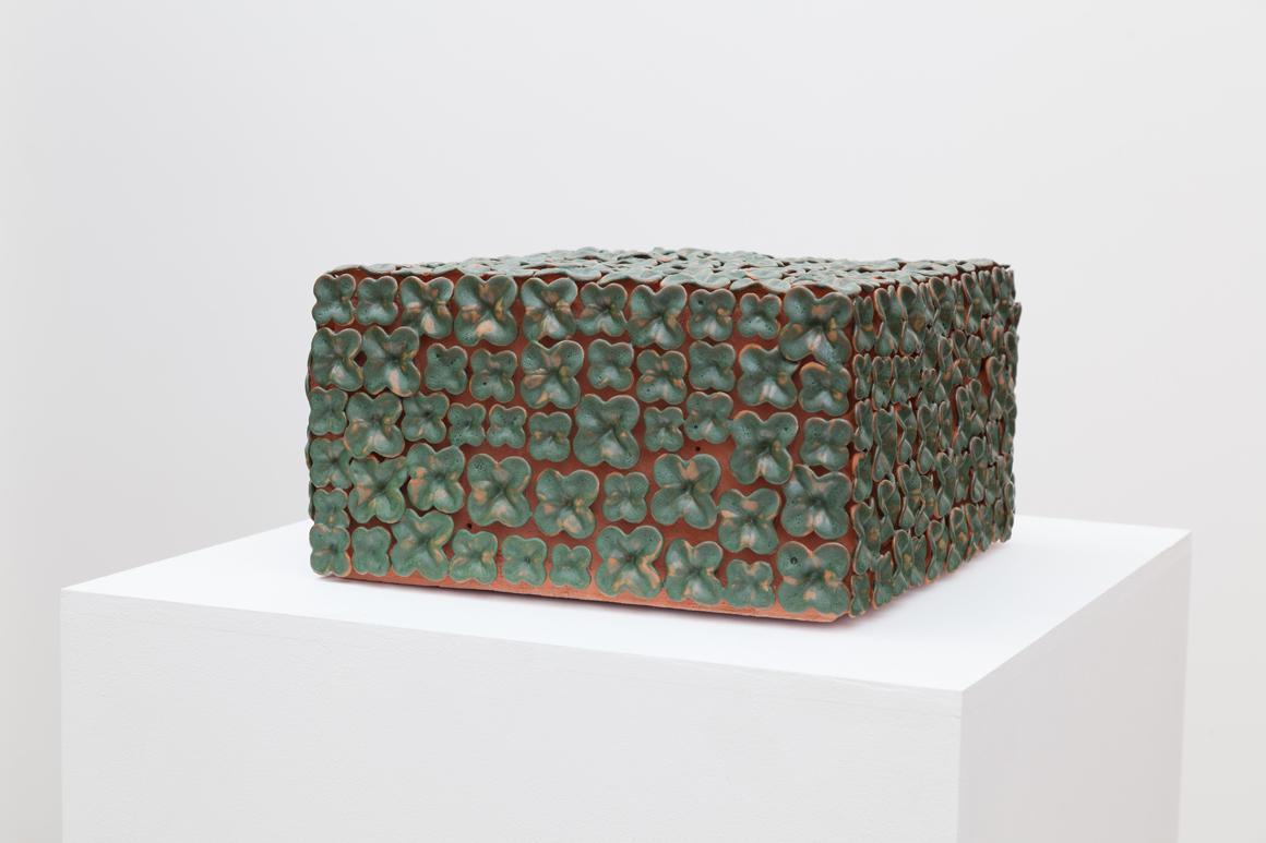 <p><em>Grotto (Box with the Sound of its own Making)</em><span class='media'>Glazed terracotta, electronics</span>13 x 13 x 7 in  (33 x 33 x 17.8 cm)<br>2015<br><a class='inquire' href='mailto:info@gildargallery.com?subject=Artwork Inquiry KDIC0001&body=I am interested in finding out more about Grotto (Box with the Sound of its own Making)'>Inquire</a></p>