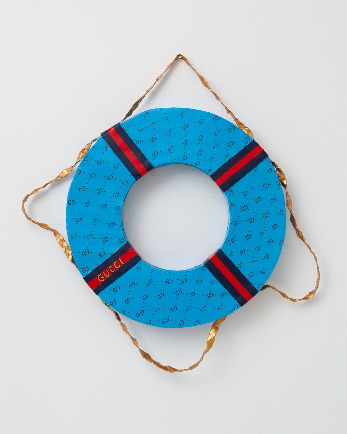 <p><em>Gucci Lifesaver</em><span class='media'>Paper, glue, acrylic</span>32 x 36 x 7 in  (81.3 x 91.4 x 17.8 cm)<br>2015<br><a class='inquire' href='mailto:info@gildargallery.com?subject=Artwork Inquiry LBLA0001&body=I am interested in finding out more about Gucci Lifesaver by Libby Black'>Inquire</a></p>
