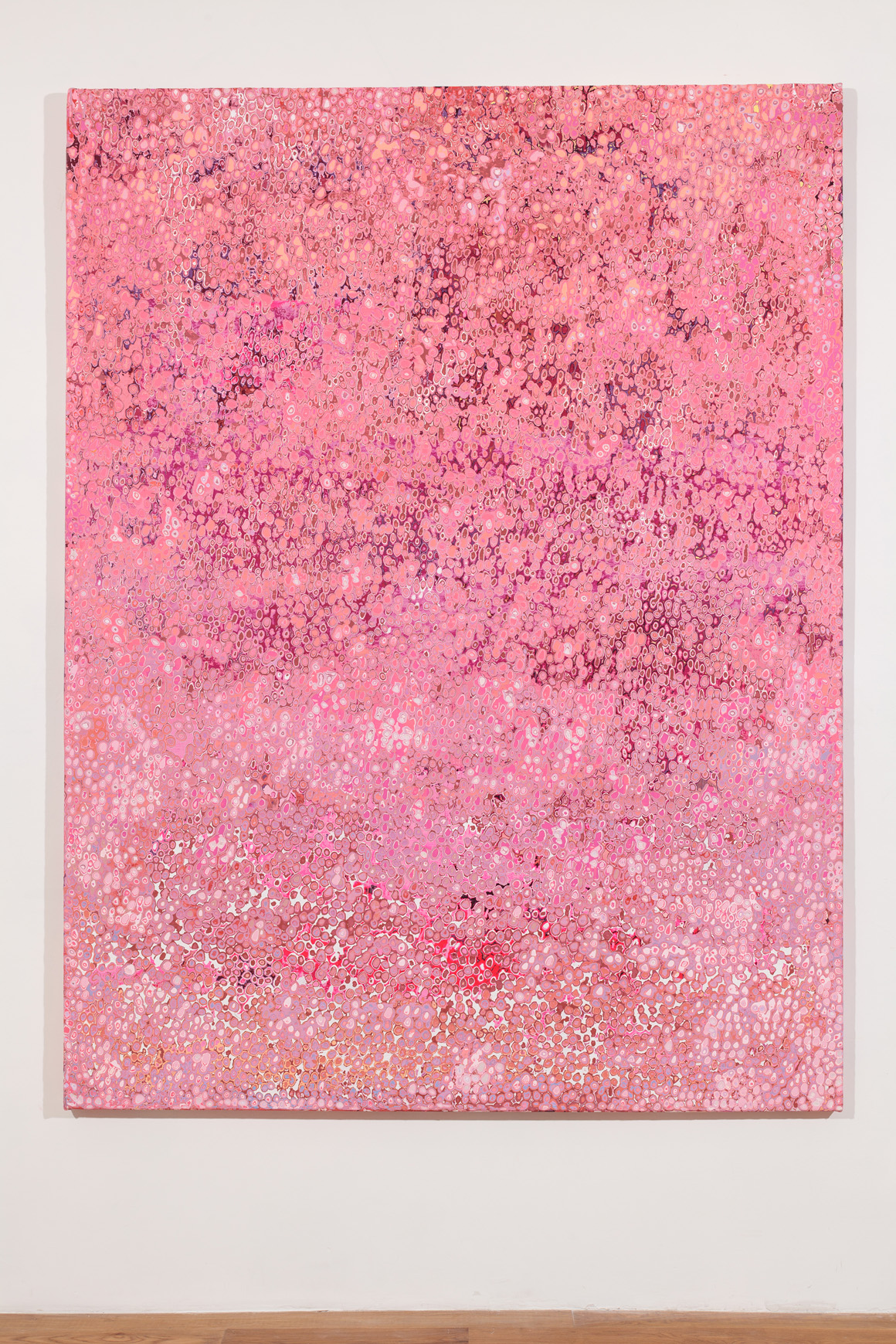 """<p><span class=""""name"""">Andrew Jensdotter</span><br><em>Millennial Pink</em><span class='media'>Latex on canvas</span>83.4 x 63.3 in (211.8 x 160.7 cm)<br>2017<br></p>"""