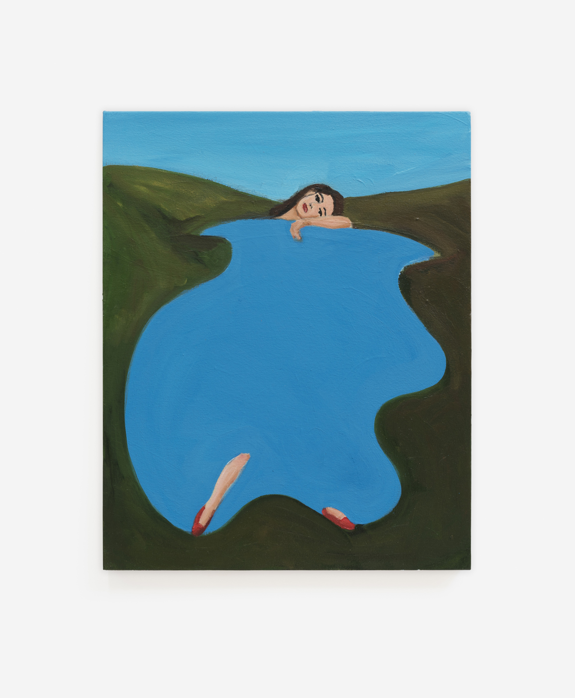 """<p><span class=""""name"""">Becky Kolsrud</span><br><em>Lady of the Lake (Study)</em><span class='media'>Oil on canvas</span>20 x 16 in (50.8 x 40.6 cm)<br>2018<br></p>"""