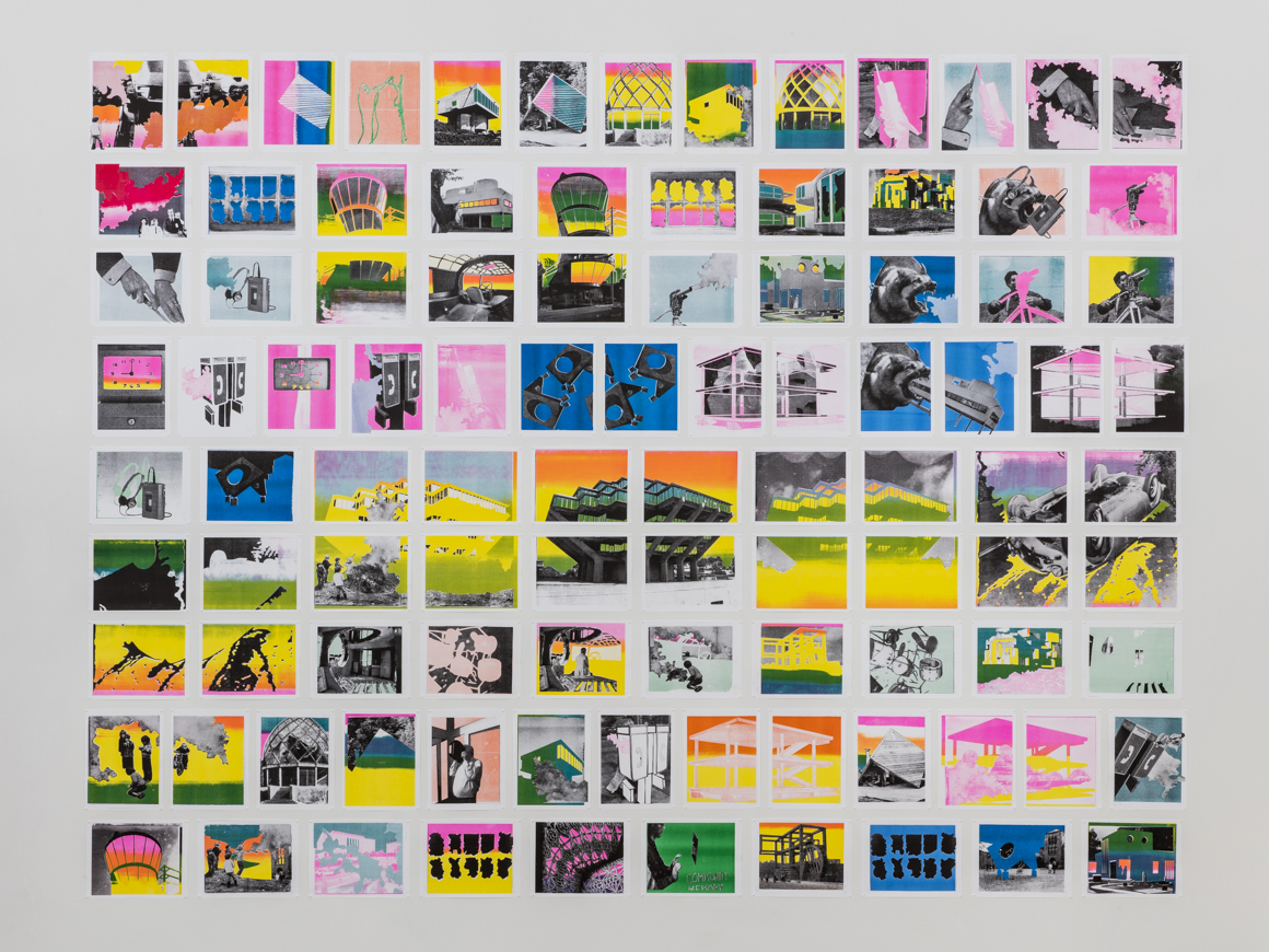 """<p><span class=""""name"""">Christopher Michlig</span><br><em>PROCESSED WORLD</em><span class='media'>Risograph print collages on paper</span>8.5 x 11 in each<br>Edition of Edition of 30<br>2014<br><a class='inquire' href='mailto:info@gildargallery.com?subject=Artwork Inquiry CMIC0001&body=I am interested in finding out more about PROCESSED WORLD by Christopher Michlig'>Inquire</a></p>"""