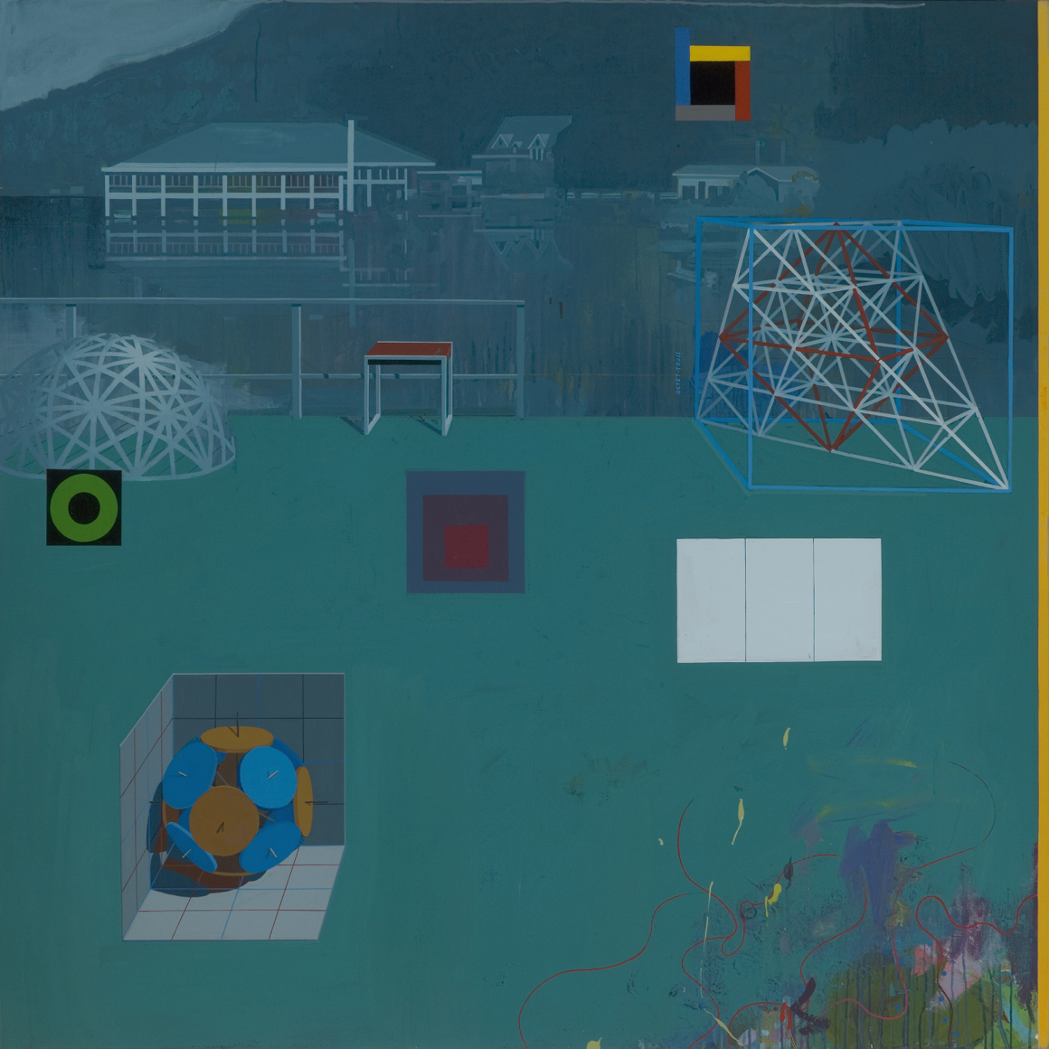 "<p><span class=""name"">Clark Richert</span><br><em>Black Mountain College</em><span class='media'>acrylic on canvas</span>70 x 70 in (177.8 x 177.8 cm)<br>2013<br><a class='inquire' href='mailto:info@gildargallery.com?subject=Artwork Inquiry CRIC0009&body=I am interested in finding out more about Black Mountain College by Clark Richert'>Inquire</a></p>"