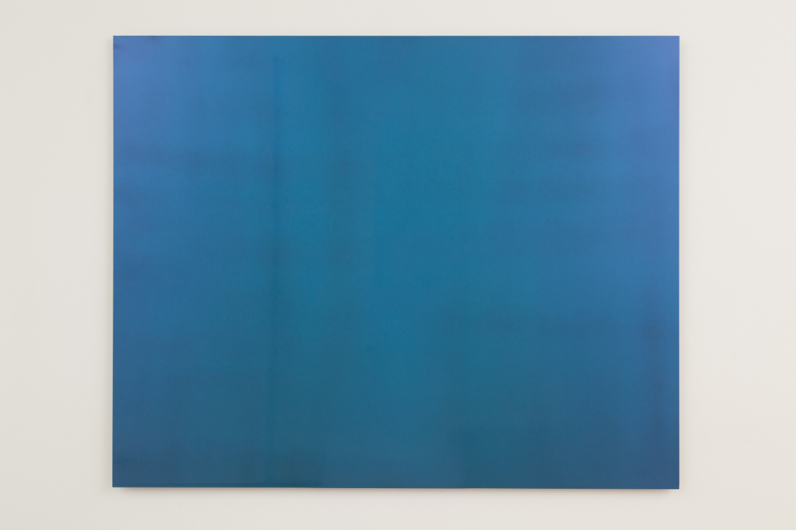 """<p><span class=""""name"""">Dmitri Obergfell</span><br><em>Scalar Fields</em><span class='media'>interference paint on aluminum</span>47 x 60 3/8in<br>2014<br><a class='inquire' href='mailto:info@gildargallery.com?subject=Artwork Inquiry DOBE0006&body=I am interested in finding out more about Scalar Fields by Dmitri Obergfell'>Inquire</a></p>"""