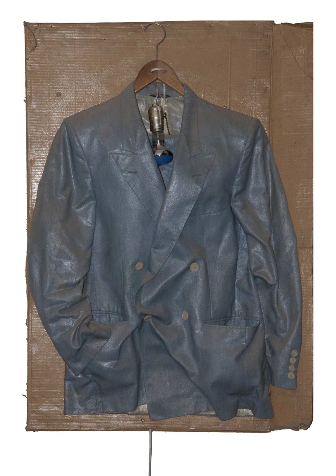 "<p><span class=""name"">Fritz Fox</span><br><em>Suit Jacket Night Light</em><span class='media'>mixed media</span>199<br></p>"