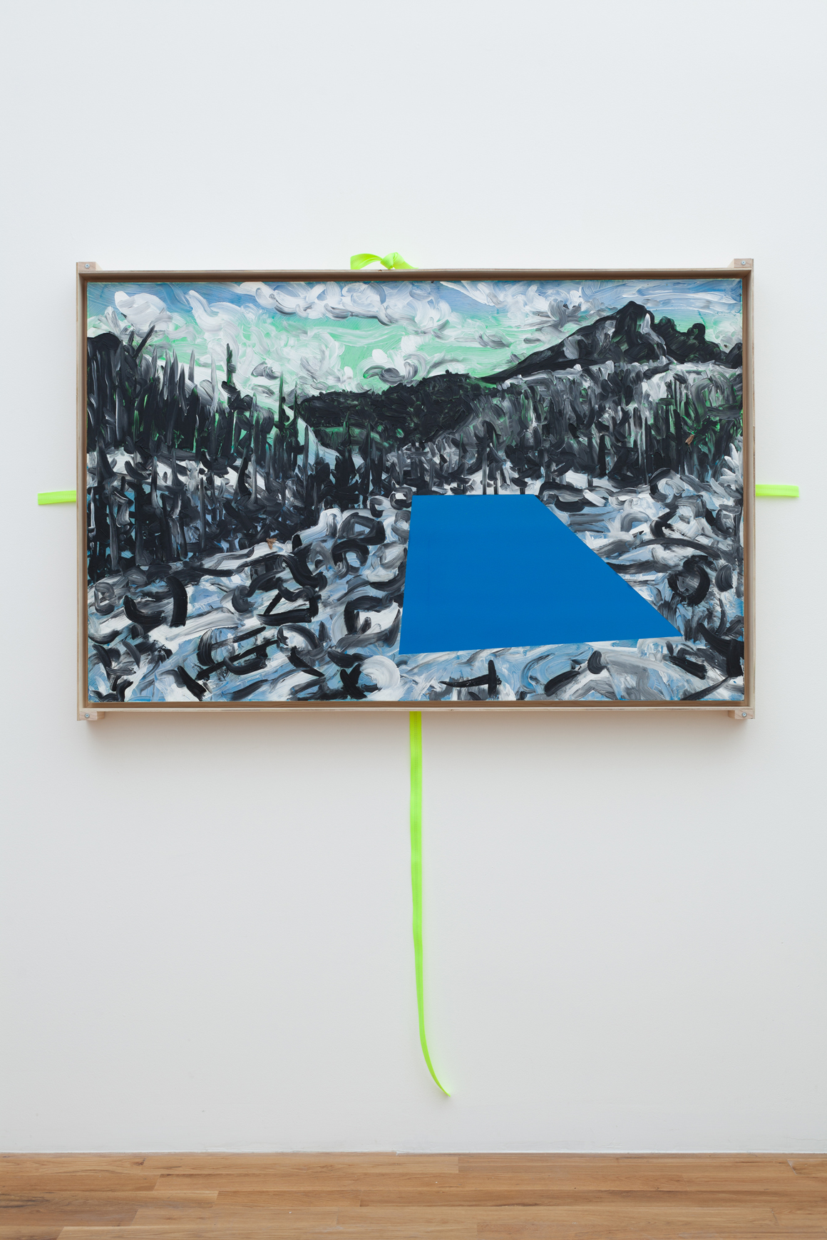 "<p><em>39°44'05.9""N 106°08'01.2""W</em><span class='media'>Oil on DayGlo with transportation crate and straps</span>36 x 56 in (91.4 x 142.2 cm)<br>2015<br><a class='inquire' href='mailto:info@gildargallery.com?subject=Artwork Inquiry JCOC0009&body=I am interested in finding out more about 39°44'05.9""N 106°08'01.2""W by Joey Cocciardi'>Inquire</a></p>"