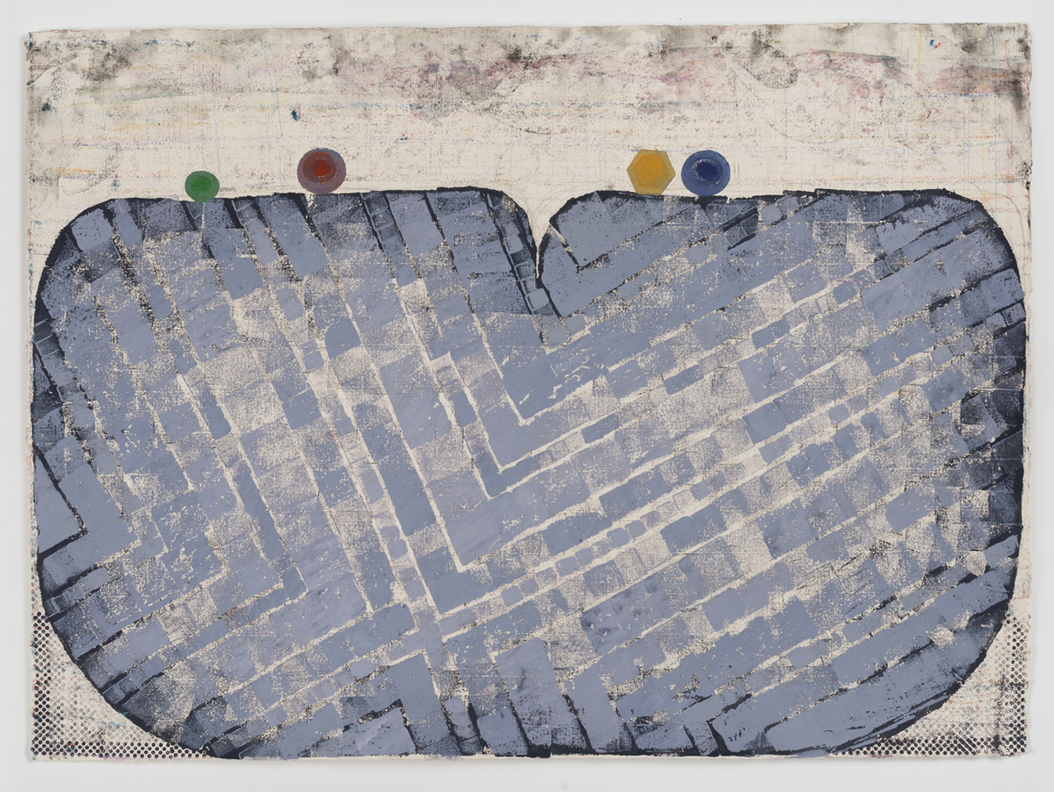 <p><em>Untitled (Carnivalesque)</em><span class='media'>Block-printing ink, Sumi ink, watercolor, gouache, graphite, colored pencil, crayon and natural pigments on hand-made paper</span>26 x 19 in (66 x 48.3 cm)<br>22 1/8 x 29 in (56.2 x 73.7 cm) Framed (framed)<br>2017<br><a class='inquire' href='mailto:info@gildargallery.com?subject=Artwork Inquiry NPOL0004&body=I am interested in finding out more about Untitled (Carnivalesque) by Noah Pollack'>Inquire</a></p>