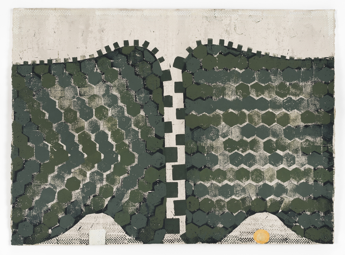 <p><em>Untitled (Chalk & Cheese)</em><span class='media'>Block-printing ink, Sumi ink, watercolor, gouache, graphite, colored pencil, crayon and natural pigments on hand-made paper</span>26 x 19 in (66 x 48.3 cm)<br>22 1/8 x 29 in (56.2 x 73.7 cm) Framed (framed)<br>2017<br><a class='inquire' href='mailto:info@gildargallery.com?subject=Artwork Inquiry NPOL0007&body=I am interested in finding out more about Untitled (Chalk & Cheese) by Noah Pollack'>Inquire</a></p>