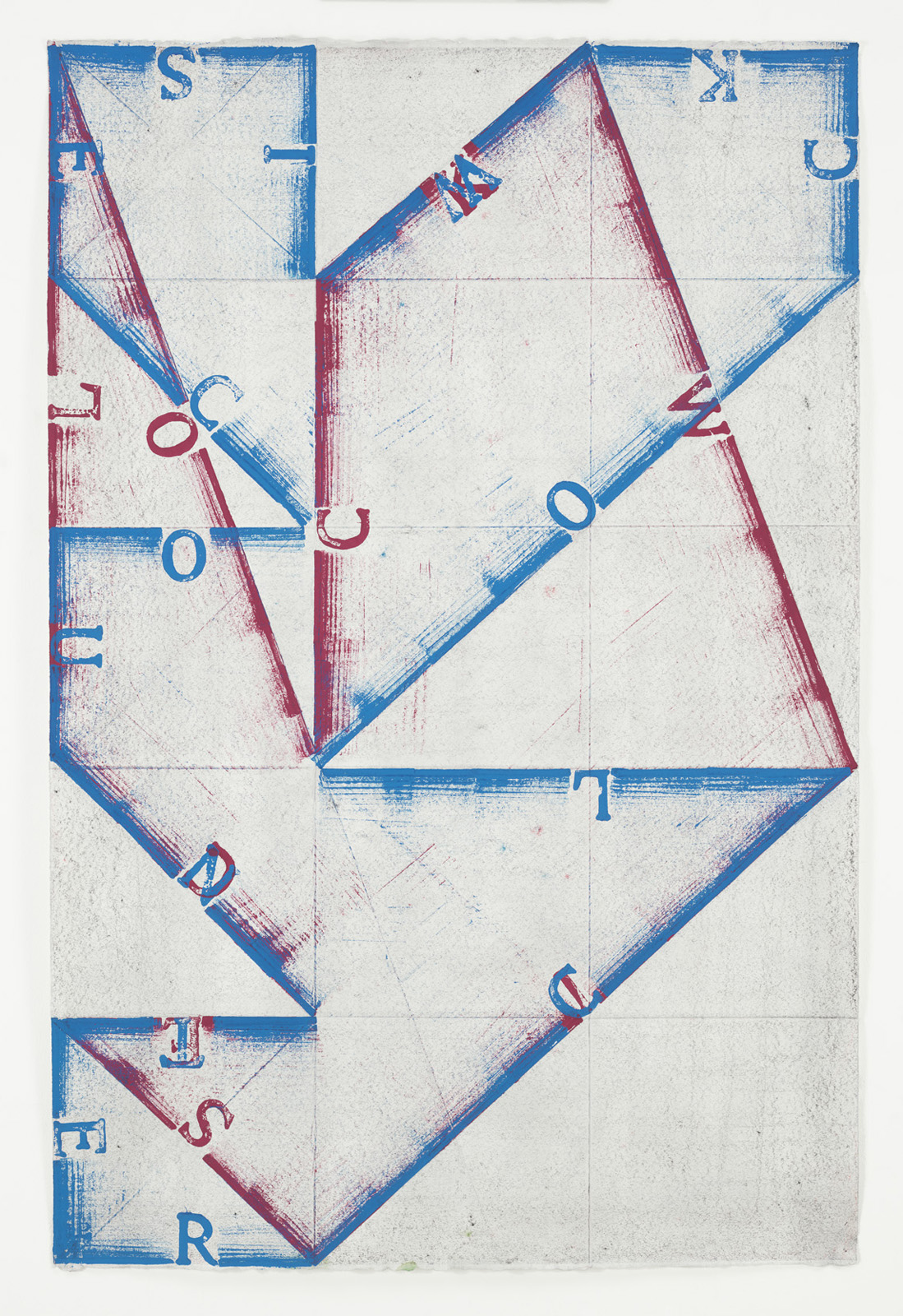 <p><em>Clockwise/Counterclockwise</em><span class='media'>Block-printing ink, Sumi ink, crayon, graphite and natural pigments on hand-made paper</span>47.5 x 31.5 in (120.7 x 80 cm)<br>34 5/8 x 50 in (87.9 x 127 cm) Framed (framed)<br>2015<br><a class='inquire' href='mailto:info@gildargallery.com?subject=Artwork Inquiry NPOL0013&body=I am interested in finding out more about Clockwise/Counterclockwise by Noah Pollack'>Inquire</a></p>