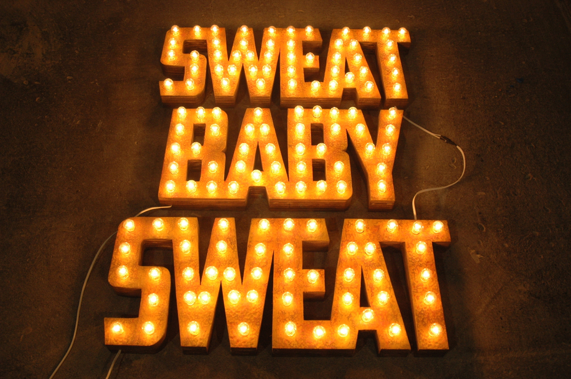 <p><em>Sweat Baby Sweat</em><span class='media'>plywood, lights</span>45.75 x 33 x 3.75 in (116.2 x 83.8 x 9.5 cm)<br>Edition of Edition of Edition of 2<br>2013<br><a class='inquire' href='mailto:info@gildargallery.com?subject=Artwork Inquiry REVE0000&body=I am interested in finding out more about Sweat Baby Sweat by Ryan Everson'>Inquire</a></p>
