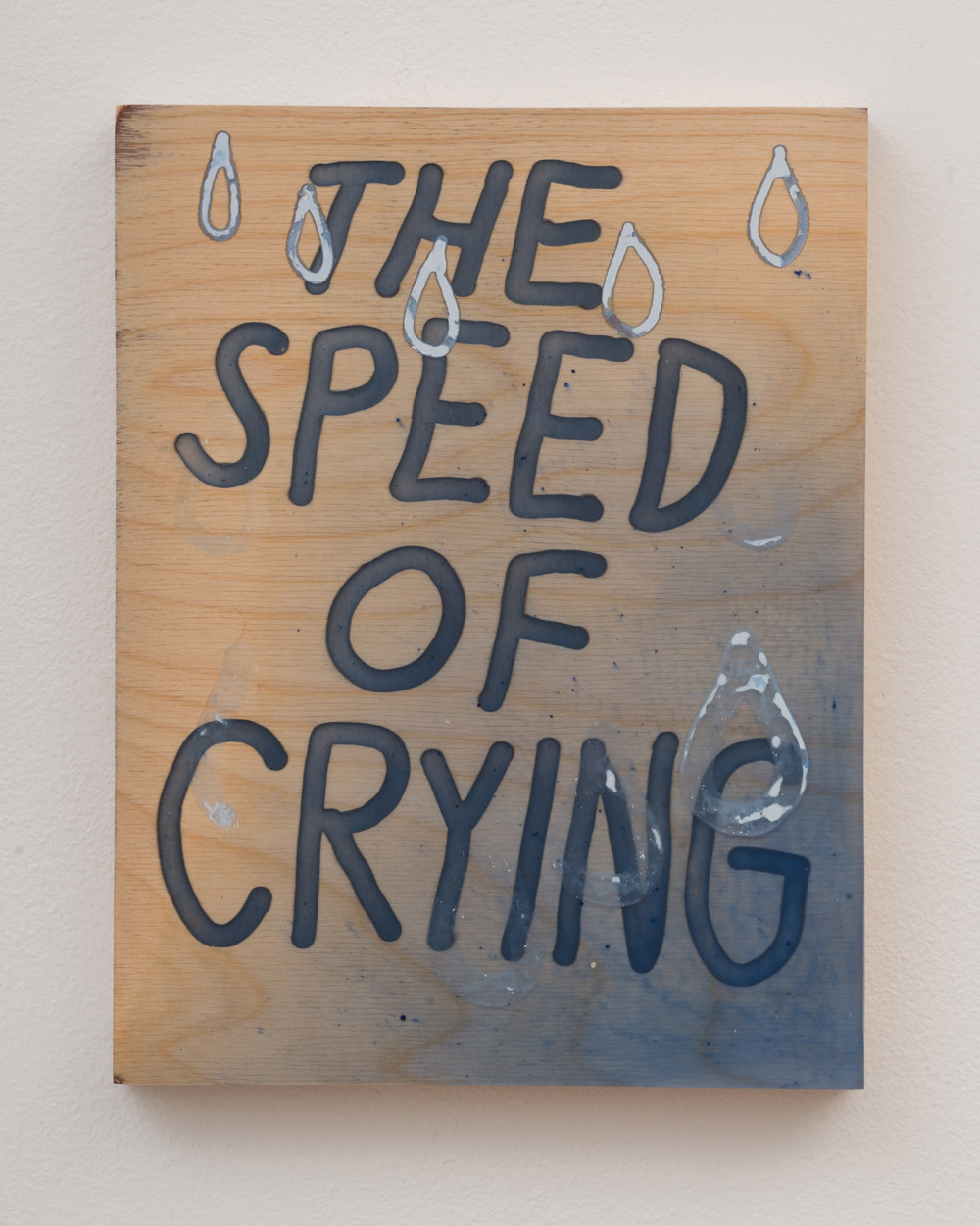 """<p><span class=""""name"""">Tommy Coleman</span><br><em>The Speed of Crying</em><span class='media'>UV resistant epoxy resin, modeling epoxy, and pigment on panel</span>11 x 8.5 in (27.9 x 21.6 cm)<br>2018<br><a class='inquire' href='mailto:info@gildargallery.com?subject=Artwork Inquiry TCOL0003&body=I am interested in finding out more about The Speed of Crying by Tommy Coleman'>Inquire</a></p>"""