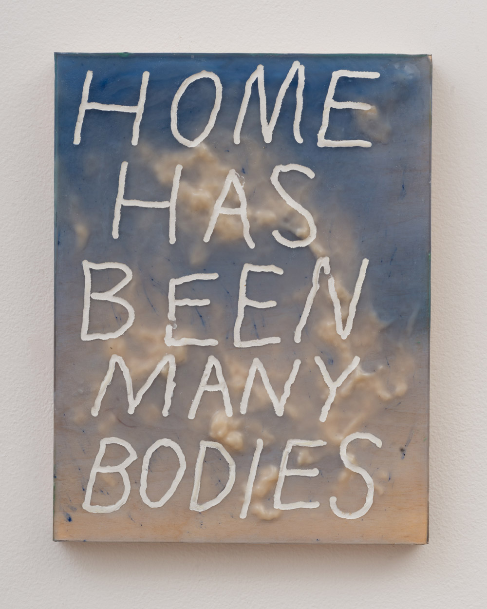 """<p><span class=""""name"""">Tommy Coleman</span><br><em>Home Has Been Many Bodies</em><span class='media'>UV resistant epoxy resin, modeling epoxy, and pigment on panel</span>11 x 8.5 in (27.9 x 21.6 cm)<br>2018<br><a class='inquire' href='mailto:info@gildargallery.com?subject=Artwork Inquiry TCOL0006&body=I am interested in finding out more about Home Has Been Many Bodies by Tommy Coleman'>Inquire</a></p>"""