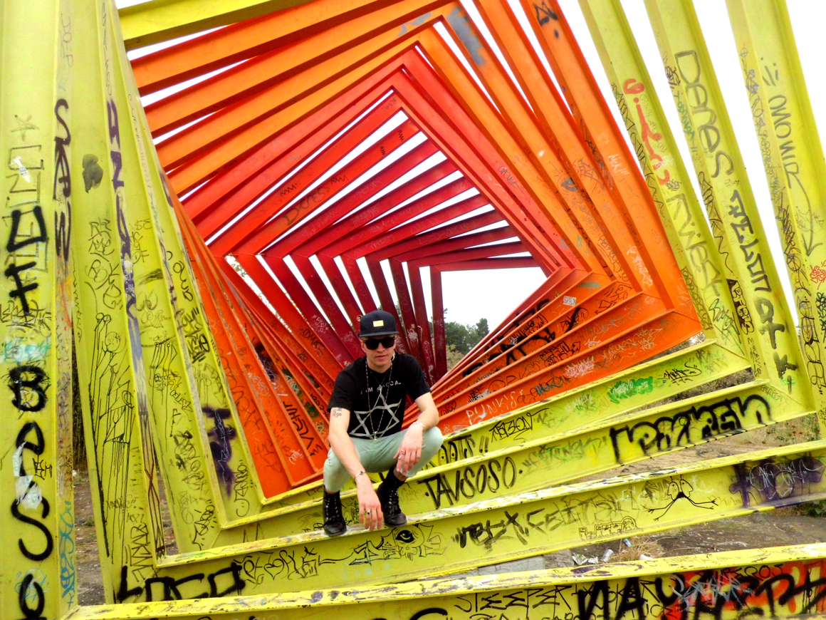 """<p><span class=""""name"""">Travis Egedy</span><br><em>Travis Egedy in abandoned sculpture park, Mexico City, MX</em><span class='media'>C-Print</span>8 x 10 in (20.3 x 25.4 cm)<br>Edition of Edition of Edition of 10<br>2013<br><a class='inquire' href='mailto:info@gildargallery.com?subject=Artwork Inquiry TEGE0023&body=I am interested in finding out more about Travis Egedy in abandoned sculpture park, Mexico City, MX by Travis Egedy'>Inquire</a></p>"""