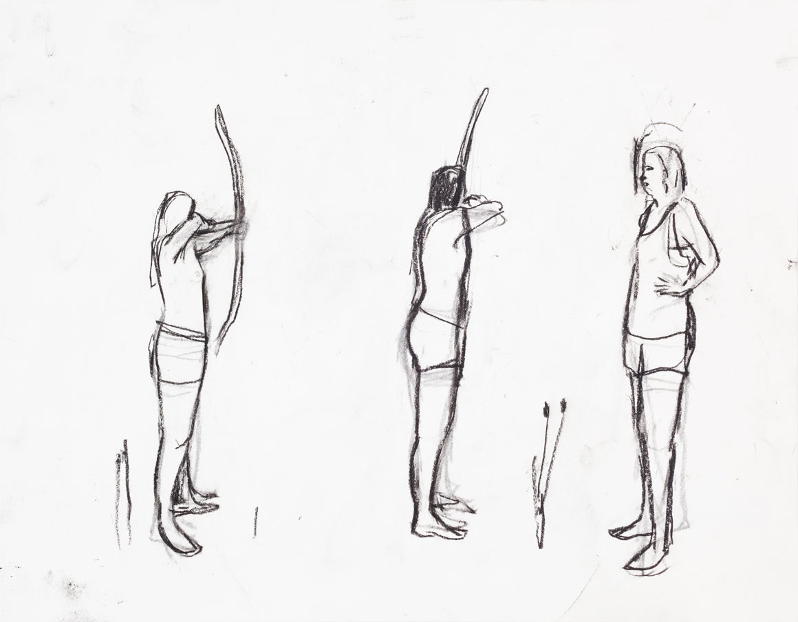 """<p><span class=""""name"""">William Stockman</span><br><em>Untitled (Archers 1)</em><span class='media'>charcoal on paper</span>11 x 14in 13 5/8 x 16 1/8in Framed<br>2014<br><a class='inquire' href='mailto:info@gildargallery.com?subject=Artwork Inquiry WSTO0038&body=I am interested in finding out more about Untitled (Archers 1) by William Stockman'>Inquire</a></p>"""