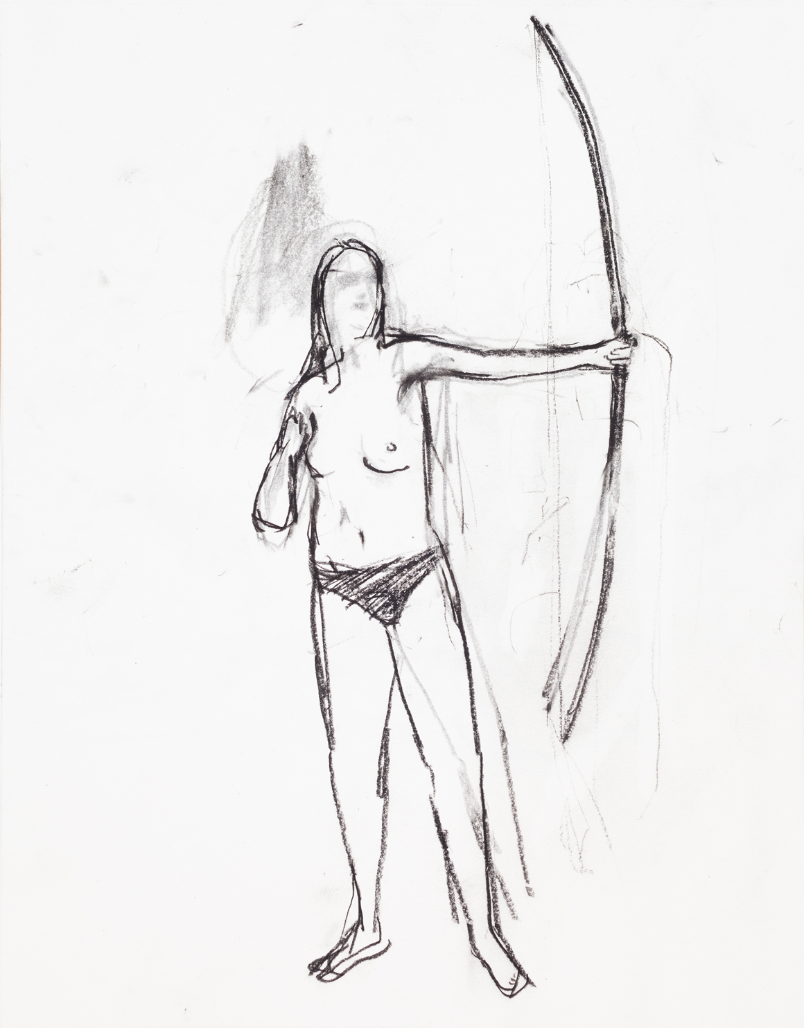 """<p><span class=""""name"""">William Stockman</span><br><em>Untitled (Archer 2)</em><span class='media'>charcoal on paper</span>14 x 11in 16 1/8i x 13 5/8in Framed<br>2014<br><a class='inquire' href='mailto:info@gildargallery.com?subject=Artwork Inquiry WSTO0040&body=I am interested in finding out more about Untitled (Archer 2) by William Stockman'>Inquire</a></p>"""