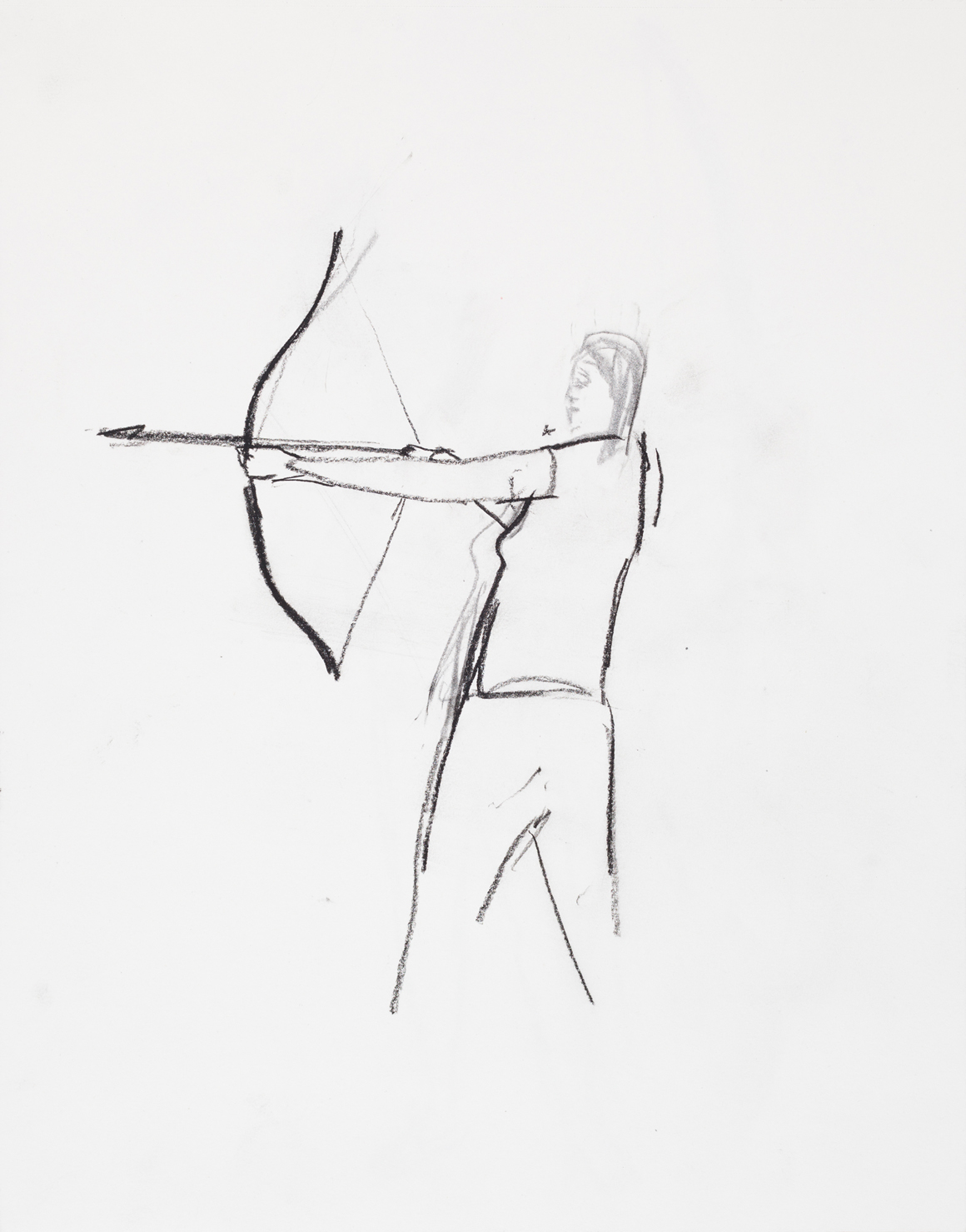 """<p><span class=""""name"""">William Stockman</span><br><em>Untitled (Archer 3)</em><span class='media'>charcoal on paper</span>14 x 11in 16 1/8i x 13 5/8in Framed<br>2014<br><a class='inquire' href='mailto:info@gildargallery.com?subject=Artwork Inquiry WSTO0041&body=I am interested in finding out more about Untitled (Archer 3) by William Stockman'>Inquire</a></p>"""