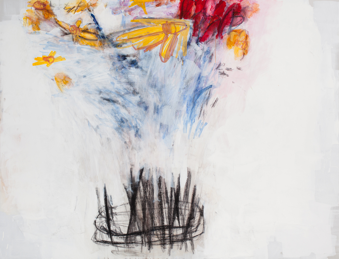 """<p><span class=""""name"""">William Stockman</span><br><em>Small Bequest (Daffodils and Tulips)</em><span class='media'>Acrylic, pastel and graphite on acrylic panel</span>60 x 78 in (152.4 x 198.1 cm)<br>2015<br></p>"""