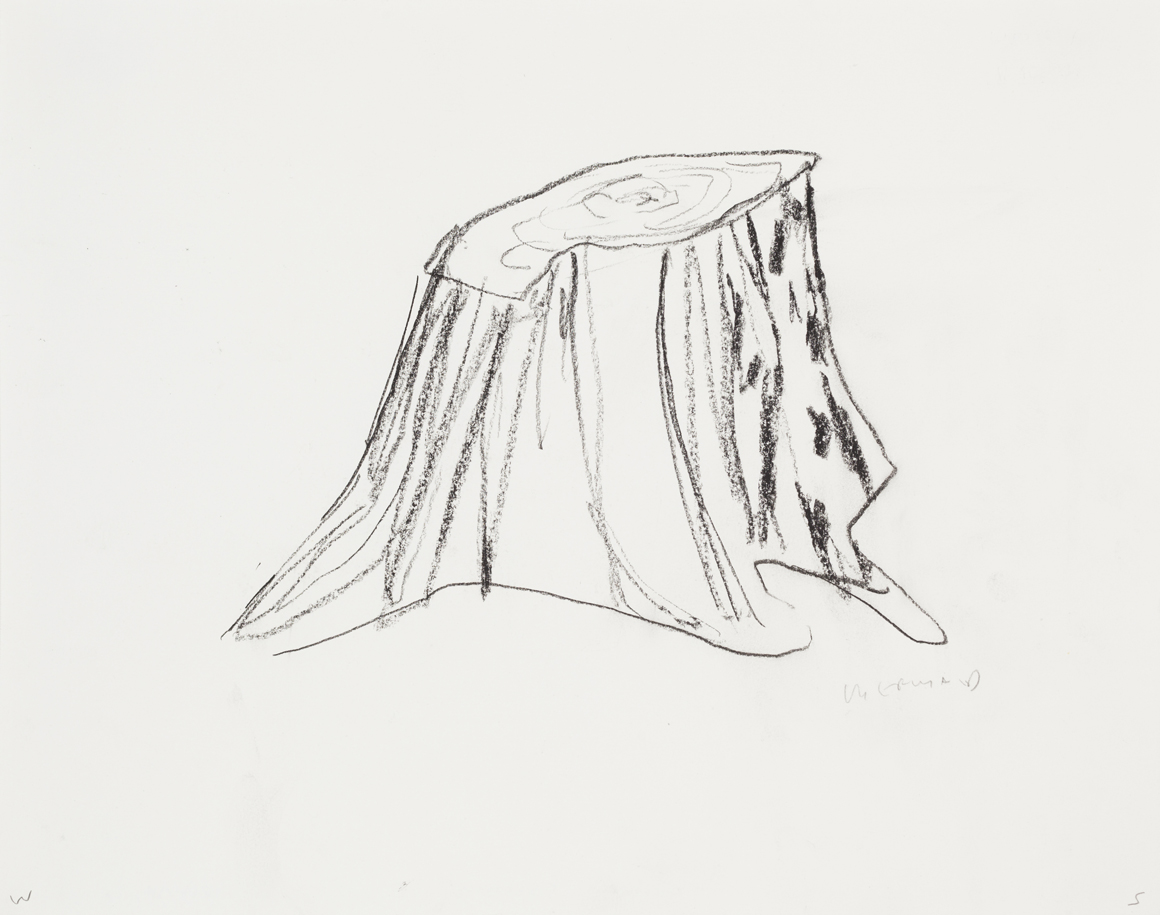 """<p><span class=""""name"""">William Stockman</span><br><em>Untitled (Stump)</em><span class='media'>charcoal on paper</span>11 x 14in 13 5/8 x 16 1/8in Framed<br>2014<br><a class='inquire' href='mailto:info@gildargallery.com?subject=Artwork Inquiry WSTO0058&body=I am interested in finding out more about Untitled (Stump) by William Stockman'>Inquire</a></p>"""